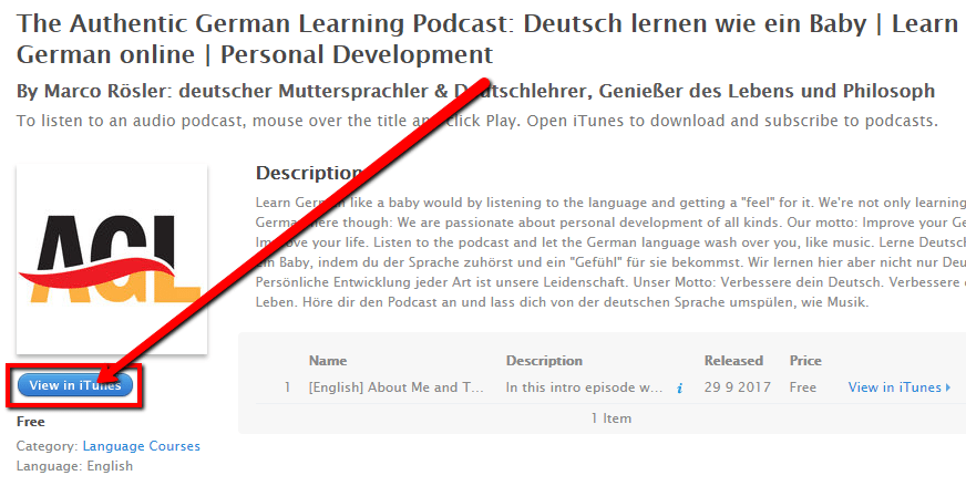 How to review the Authentic German Learning Podcast