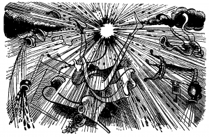 """deutsches Wort """"Pulverblitz"""" = Explosion"""